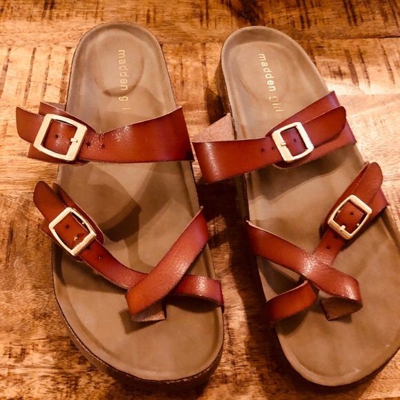 708a5b8ab696e Madden Girl Shoes - Madden Girl Bryceee Flat Sandal Size 9 Cognac